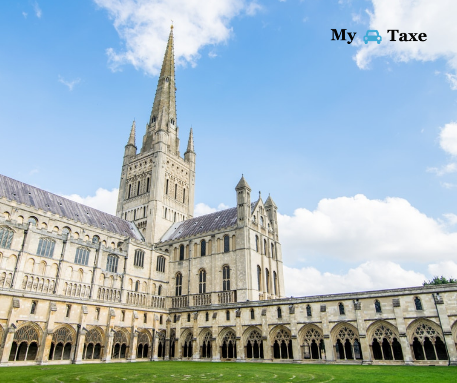Lowest fare taxi and minicabs from Norwich to All Towns in UK